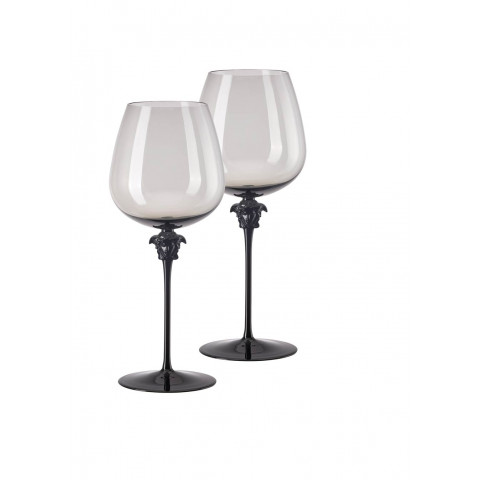 Medusa Lumiere Haze Red Wine Burgundy Set Of Two 11 In 29 Oz | Gracious Style