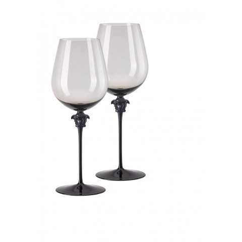 Medusa Lumiere Haze Red Wine Bordeaux Set Of Two 12 In 33 Oz | Gracious Style