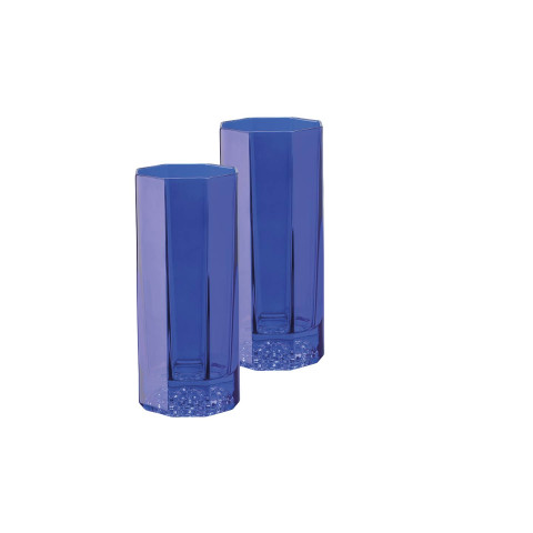 Medusa Lumiere Blue Longdrink Set Of Two 6 In 8 Oz | Gracious Style