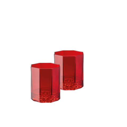 Medusa Lumiere Red Whiskey Dof Set Of Two 3 1/2 In 5 Oz | Gracious Style