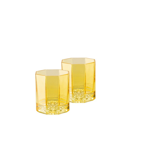 Medusa Lumiere Amber Whiskey Dof Set Of Two 3 1/2 In 5 Oz | Gracious Style