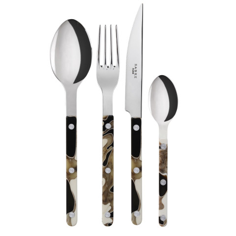 Bistrot Shiny Dune Black Flatware | Gracious Style