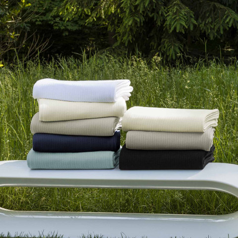 Grant Woven-Stripe Cotton Blanket | Gracious Style