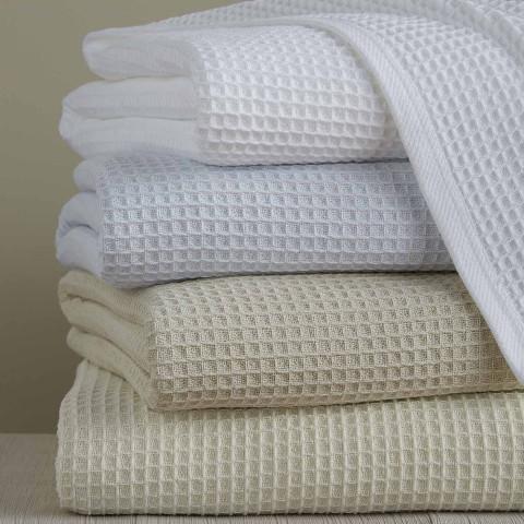 Kingston Waffle Cotton Blanket | Gracious Style