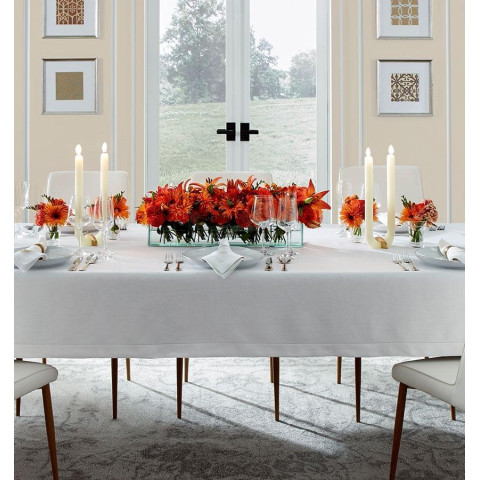 Classico Italian Hemstitched Solid Linen Table Linens | Gracious Style
