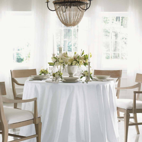 Acanthus Damask Table Linens | Gracious Style