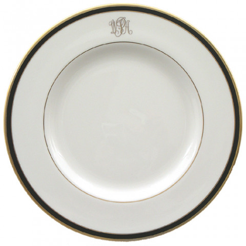 Signature Monogram Black Dinnerware | Gracious Style