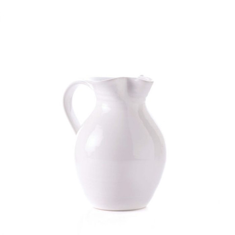 Belmont Pottery Pitcher, Medium Dove | Gracious Style