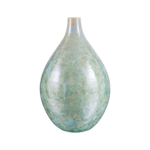 Crystalline Teardrop Vase, Medium Jade | Gracious Style