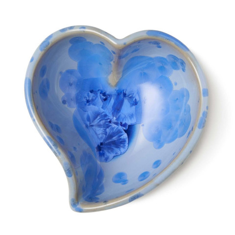 Crystalline Twist Heart Bowl Cobalt Crystalline   Gracious Style