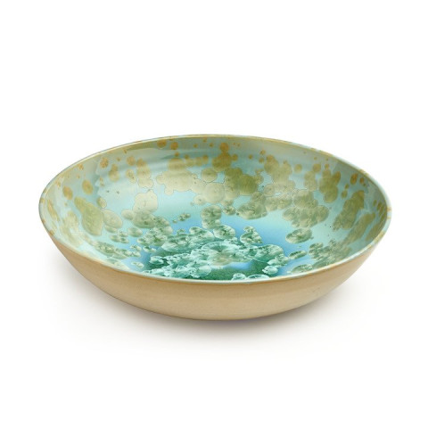 Crystalline Low Bowl, Large Jade | Gracious Style
