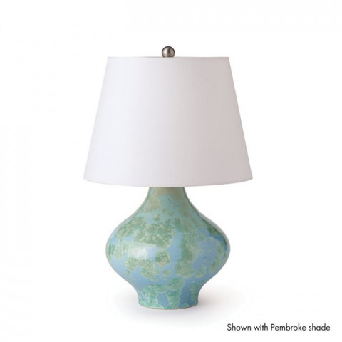 Crystalline Dover Pottery Lamp Jade | Gracious Style