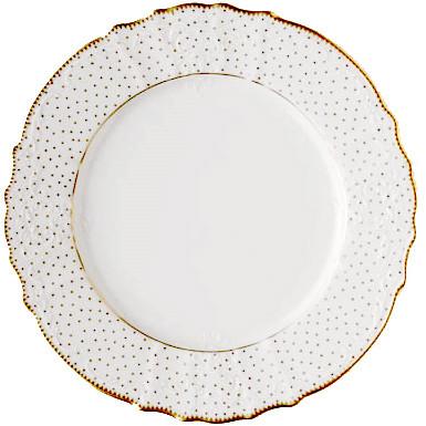 Simply Anna Polka Gold Dinnerware | Gracious Style