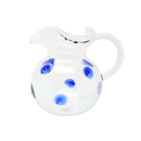 Drop Blue Three-spout Pitcher - 6.25 in. h, 6 Cups | Gracious Style