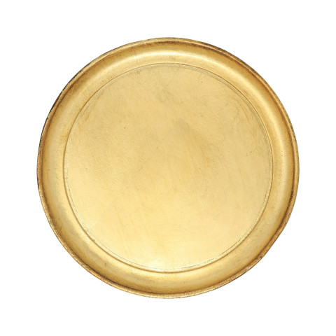 Florentine Wooden Accessories Small Round Tray - 9.75 in. d   Gracious Style