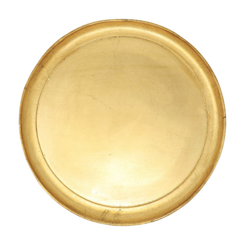Florentine Wooden Accessories Medium Round Tray - 13.75 in. d | Gracious Style