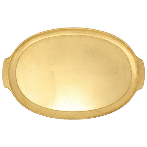 Florentine Wooden Accessories Handled Medium Oval Tray - 21 in. l, 13.5 in. w | Gracious Style