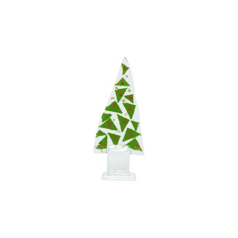 Glass Trees And Angels Triangle Small Tree - 2 in. w, 7.5 in. h | Gracious Style