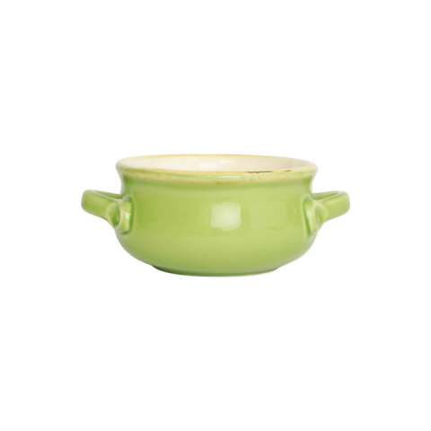 Italian Bakers Green Small Handled Round Baker - 7.5 in. l, 5.25 in. w, 0.50 Quart | Gracious Style