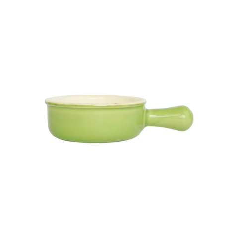 Italian Bakers Green Small Round Baker With Large Handle - 7.5 in. l, 6.25 in. w, 0.50 Quart | Gracious Style