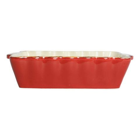 Italian Bakers Red Medium Rectangular Baker - 14.5 in. l, 8.5 in. w, 3.5 Quarts | Gracious Style