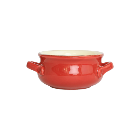 Italian Bakers Red Small Handled Round Baker - 7.5 in. l, 5.25 in. w, 0.50 Quart | Gracious Style