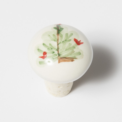 """Lastra Holiday Cork Stopper 1.5""""D, 2""""H 