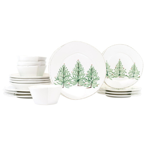 Lastra Holiday Sixteen-piece Place Setting - 6 in. -10.5 in. d | Gracious Style