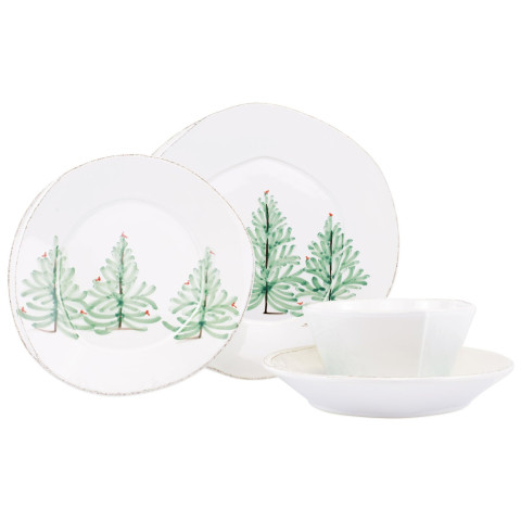 "Lastra Holiday Four-piece Place Setting - 6 in. -10.5"" D 