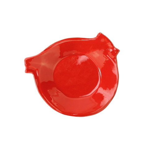 Lastra Holiday Figural Red Bird Canape Plate - 7.5 in. d | Gracious Style