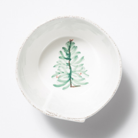 "Lastra Holiday Stacking Cereal Bowl 6""D, 3""H 