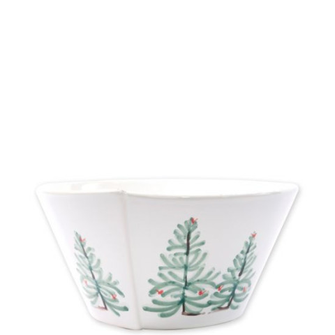 Lastra Holiday Medium Stacking Serving Bowl - 8 in. d, 4 in. h | Gracious Style