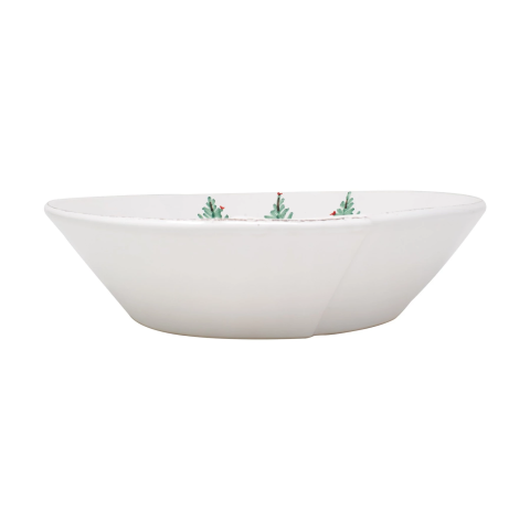 """Lastra Holiday Large Shallow Serving Bowl - 11.5""""d, 3""""h 