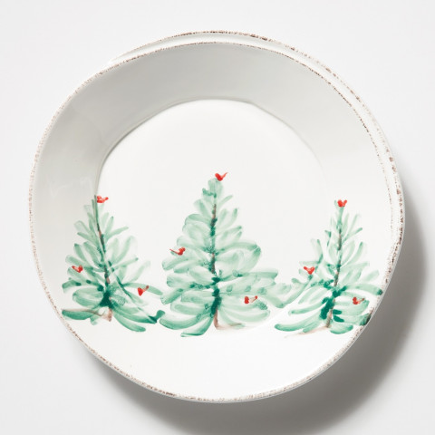 "Lastra Holiday Pasta Bowl 8.75""D 