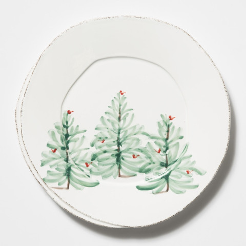 """Lastra Holiday European Dinner Plate 10.5""""D 