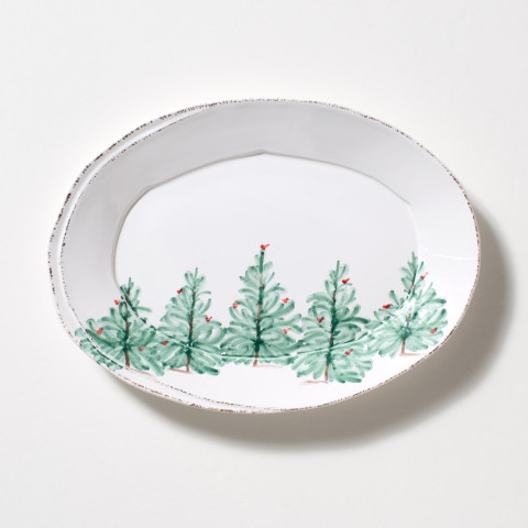 Lastra Holiday Small Oval Platter - 13.5 in. l, 10 in. w | Gracious Style