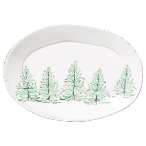 Lastra Holiday Oval Platter | Gracious Style