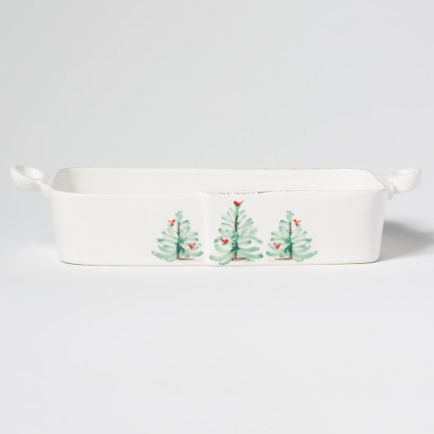 "Lastra Holiday Rectangular Baker 16.5""L, 8.25""W, 3.75""H 