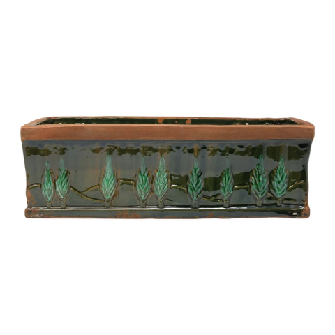 Rustic Garden Cypress Green Planters | Gracious Style