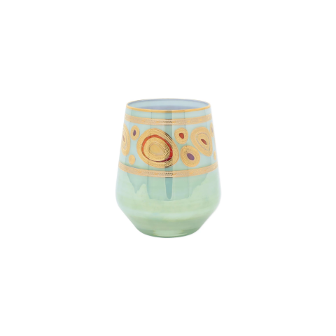 Regalia Aqua Stemless Wine Glass - 4.25 in. h, 12 Oz | Gracious Style