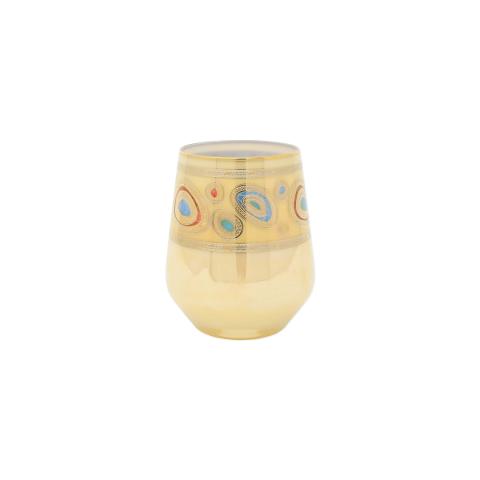 Regalia Cream Stemless Wine Glass - 4.25 in. h, 12 Oz   Gracious Style