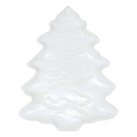 Incanto Stone Winterland White Tree Platter - 16 in. l, 12.5 in. w | Gracious Style