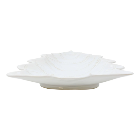 Incanto Stone Winterland White Tree Large Serving Bowl - 15 in. l, 13.25 in. w, 2.25 in. h | Gracious Style