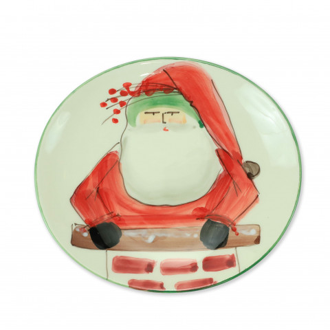 Old St Nick Cookie Plate with Chimney | Gracious Style