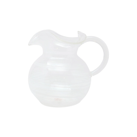 Swirl White Three-spout Pitcher - 6.25 in. h, 6 Cups | Gracious Style