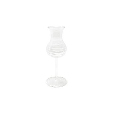Swirl White Limoncello Glass - 6 in. h, 3 Oz   Gracious Style
