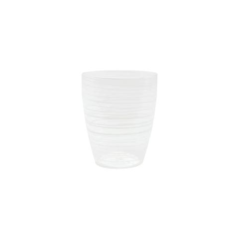 Swirl White Short Tumbler - 4 in. h, 10 Oz   Gracious Style