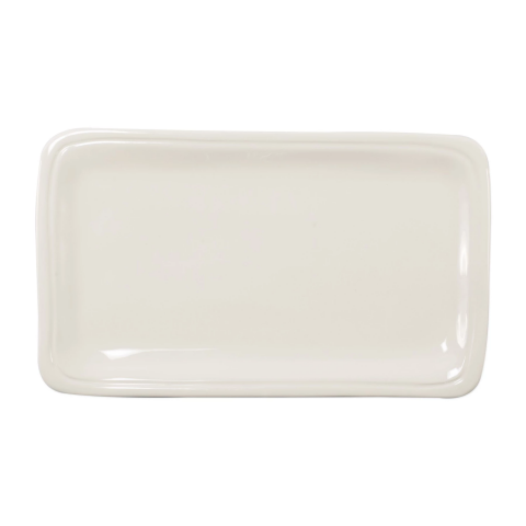 Fresh Linen Small Rectangular Platter - 12 in. l, 7 in. w | Gracious Style