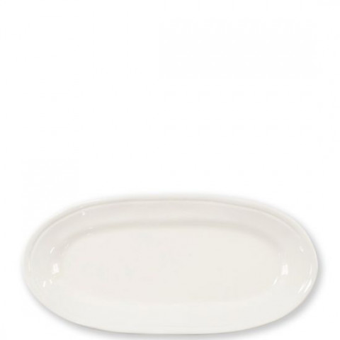 Fresh Linen Narrow Oval Platter - 16.25 in. l, 8 in. w | Gracious Style