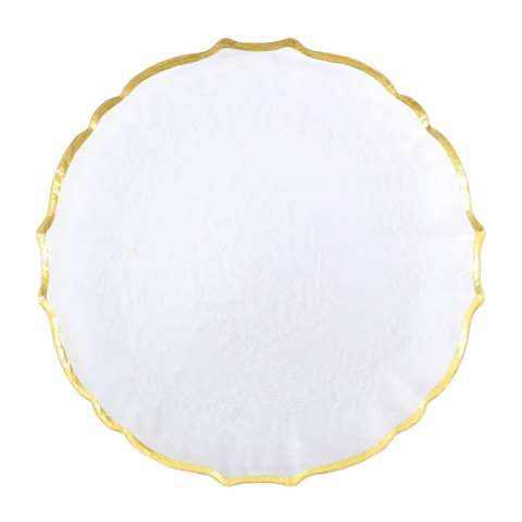 Baroque Glass Clear Dinnerware | Gracious Style